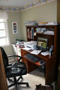 My office, where I create and write.
