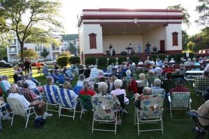 Thursday night band concert in Central Park, Faribault