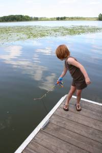 Fishing for sunfish on Kelly Lake