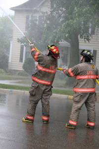 Two Litchfield firemen aim to win.