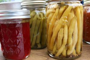 Lois' jellies and pickled beans