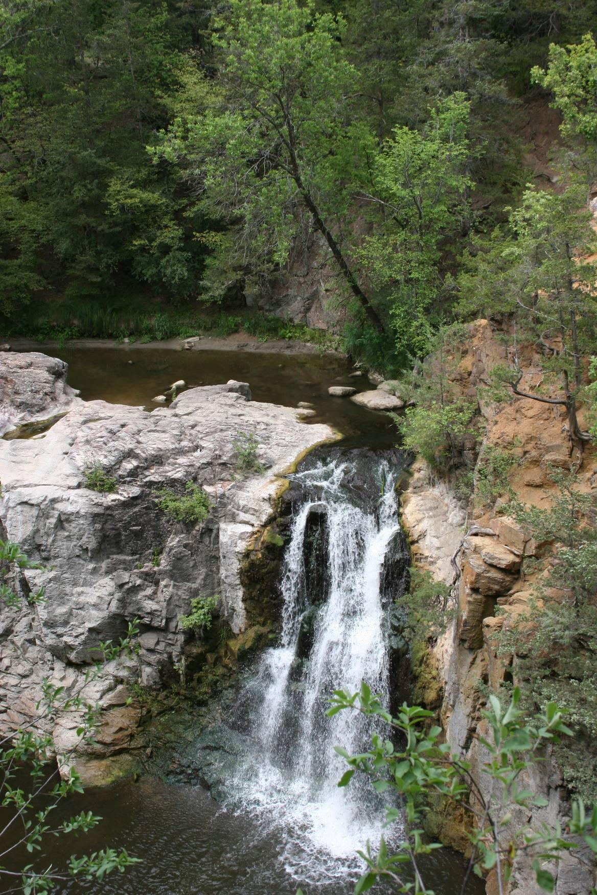 Ramsey Falls in Alexander Ramsey Park. Minnesota Prairie Roots file photo.