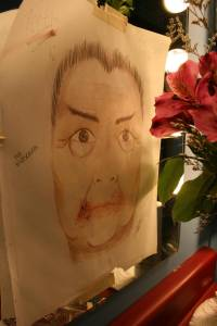 """Sketch of """"South Pacific"""" character Bloody Mary"""