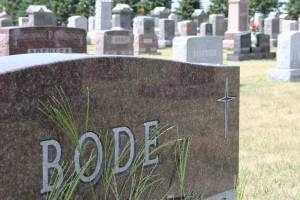 Immanuel Lutheran Cemetery, rural Courtland, is filled with the gravestones of many Bodes. This particular Bode tombstone does not belong to one of my direct relatives.