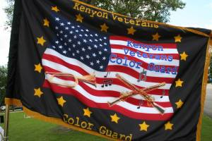 The official Kenyon Veterans Color Guard flag.