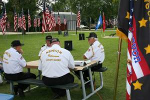 Kenyon Veterans Color Guard members Donald Meese, from left to right, Marty Budde, Mike McDonald and Mark Hegseth.