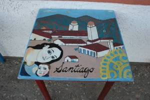 Table art representing Santiago.