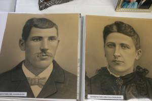 Photo copies of my great grandparents, Karl and Anna Bode, were displayed at the Bode family reunion on August 16 in Courtland, Minnesota.
