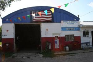 Patriotism shines at the Stars & Stripes Garage in rural Le Sueur County.