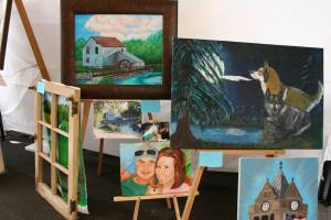Barb Bruns of Morristown showcased her oil paintings at the festival.