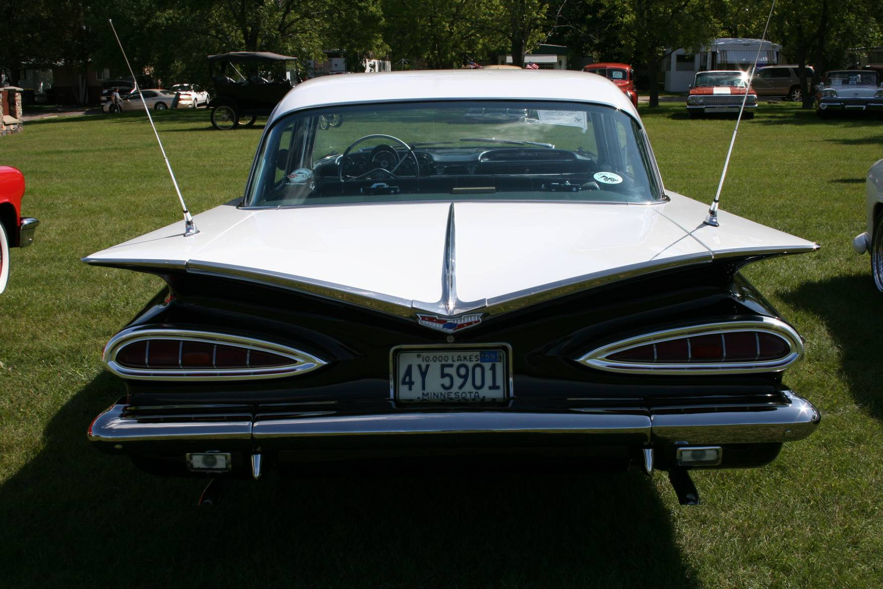 back shot of Tim Swanson's 1959 Chevy Impala.