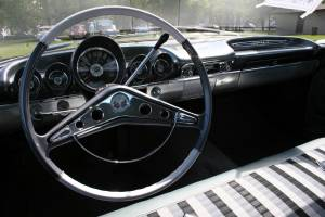 The beautifully-redone interior of Tim Swanson's 1959 Chevrolet Impala four-door.