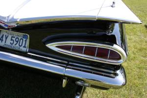 A gorgeous taillight on the 1959 Chevy.
