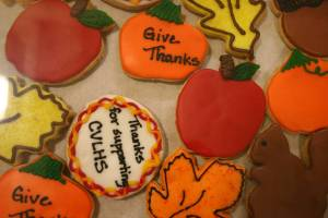 One dozen of Kathy Hallanger's fall-themed cookies sold for $40.
