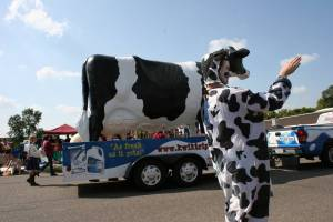 "I never planned or manipulated this image, but was humorously surprised to see that I had shot a two-faced cow, the Kwik Trip cow, in Northfield, the city of ""Cows, Colleges and Contentment."""