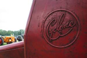 A close-up image of the Cyclone name on a piece of equipment, a brand unknown to me until the show.