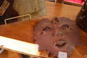 Dianne Lockerby of Faribault sold her unique pottery pieces.