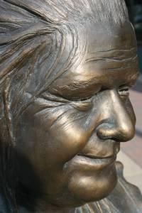 "A close-up of my favorite sculpture, ""Grannie's Garden."""