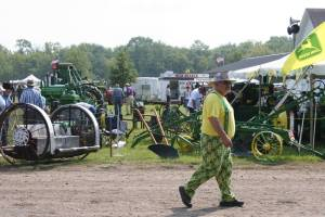 And then there was this die-hard John Deere fan. I turned, saw him and quickly snapped one unforgettable image.