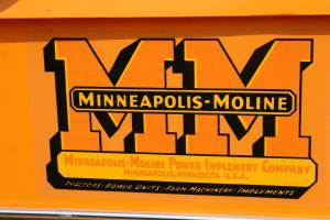 Signage on the Minneapolis Moline UDLX.
