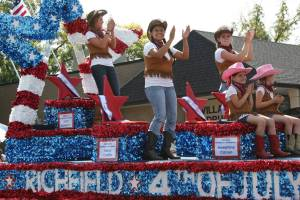Richfield promoted its Fourth of July celebration with a patriotic, western-themed float.