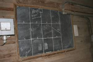 One of my favorite images came from inside Gary Schmidt's 1899 elevator, where this chalkboard hangs, indicating grain storage.