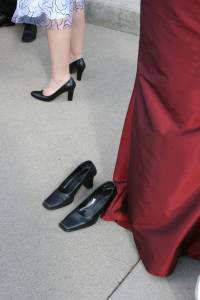 Guest shoes and bridesmaid shoes.