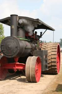 A restored 1921 Advance Rumely steam engine.