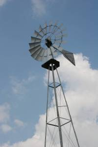 An on-site windmill adds authenticity to the showgrounds.