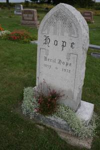 My favorite of all the gravestones at Valley Grove, beautiful in simplicity and beautiful in name, Berit Hope.