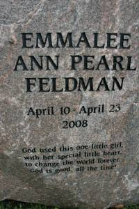 A touching tribute to Emmalee Ann Pearl Feldman, who was born with a heart defect and lived only 13 days. The family also lost their sons, Owen and Cooper, who were born prematurely.