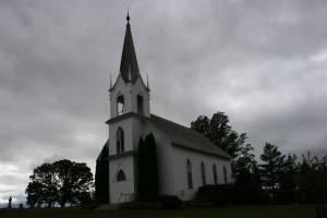 The 1894 Valley Grove Church hosts weddings and other events, while the neighboring 1862 church serves as a social hall.