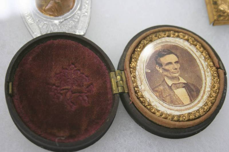 An original photo of Abraham Lincoln in Roger's collection.