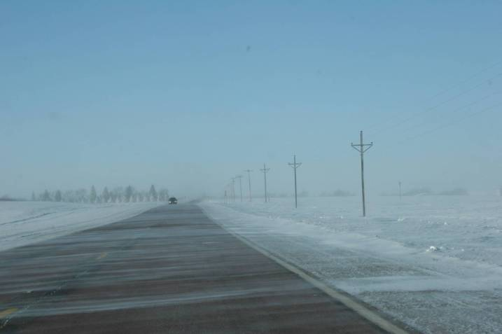 """The photograph, taken along Minnesota Highway 30 in southwestern Minnesota, photographed in January 2010.."