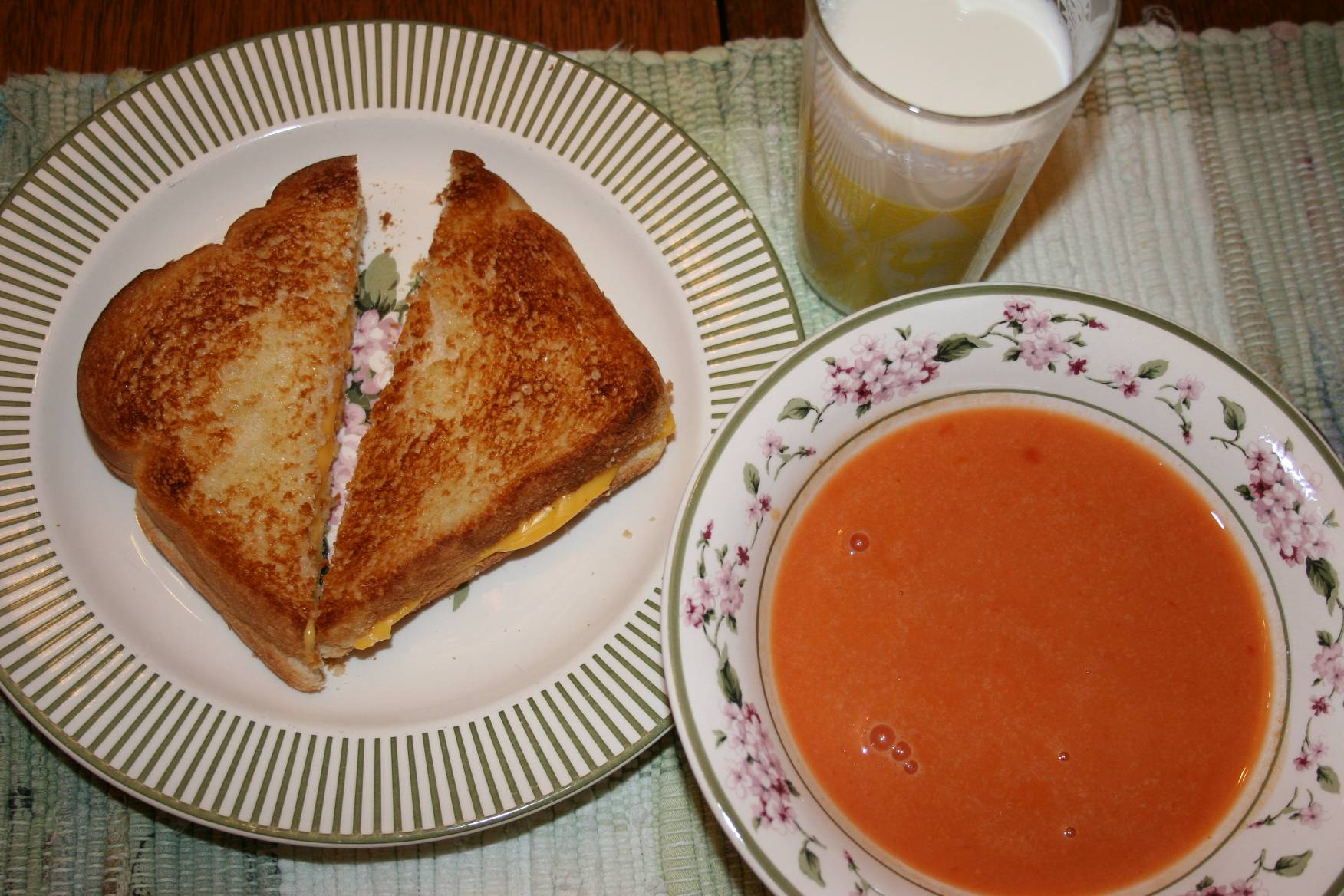 The comfort of grilled cheese  Gourmet Grilled Cheese And Tomato Soup