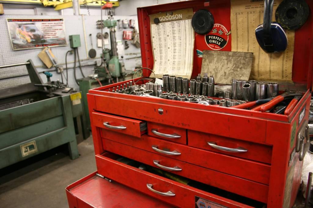 My husband's NAPA automotive machine shop toolbox.