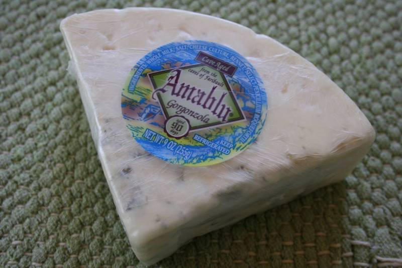 Award-winning Amablu Gorgonzola from Caves of Faribault.