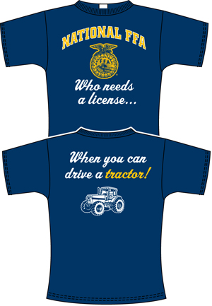 Girls can drive tractors too minnesota prairie roots for Ffa t shirt design