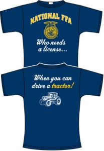 Wabasso High School's winning T-shirt design, front and back.
