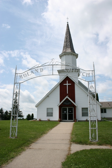 Moland Lutheran Church, a Norwegian Lutheran church south of Kenyon in Steele County, the subject of my post which was Freshly Pressed in July 2010.