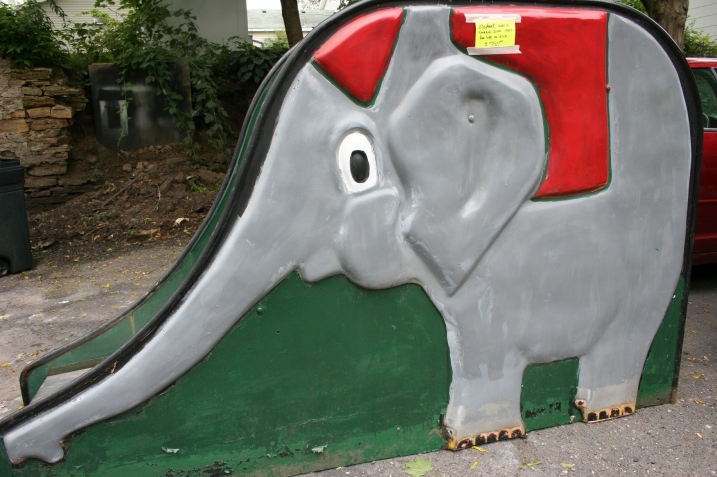 Ron and Peggy's elephant slide
