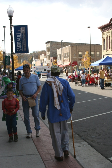 Different cultures, all the faces of today's Faribault, mingled during the Fall Festival.