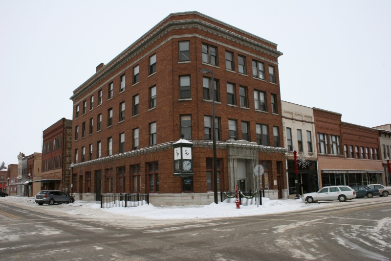 The former Security Bank, today, along Central Avenue in downtown Faribault.