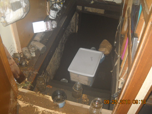 how to clean up a flooded basement