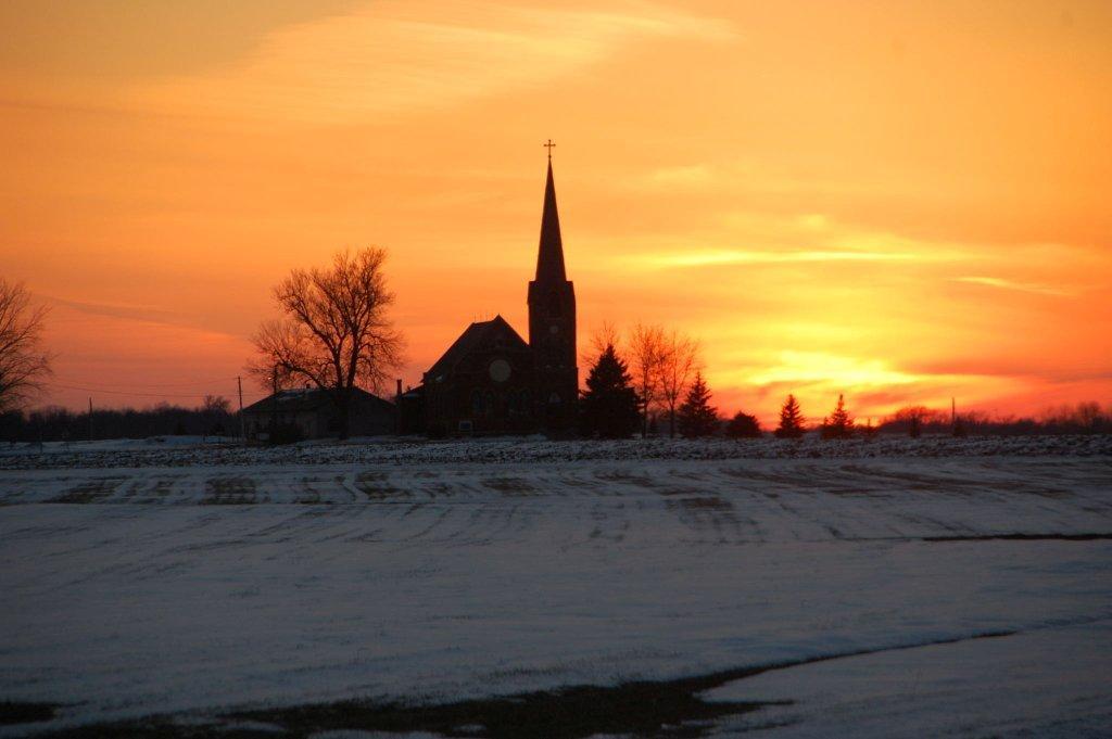 A Glorious Sunset At St John The Baptist Church