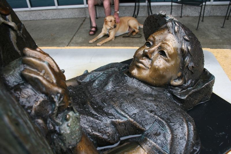 "Details define ""Reading Magic,"" a $8,500 bronze sculpture by Julie Jones of Fort Collins, Colorado."