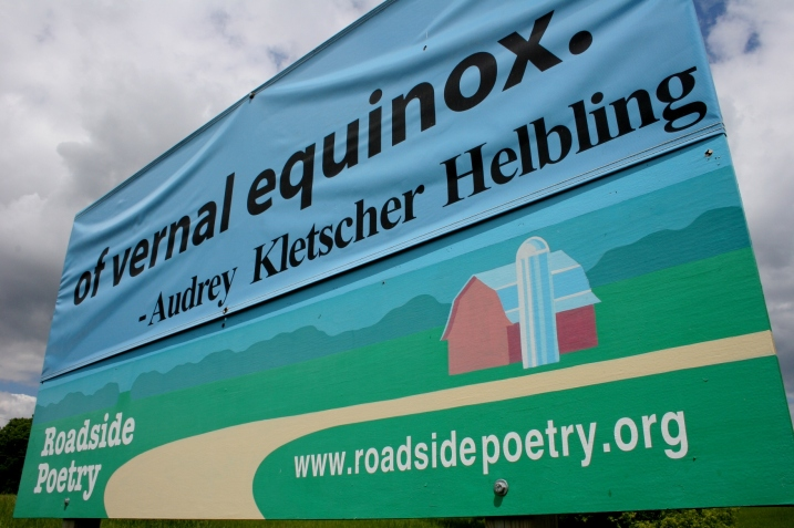 The last of four billboards featuring my Roadside Poetry spring poem.