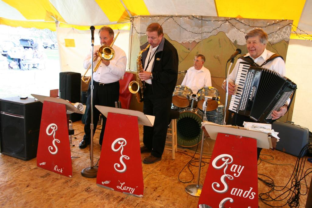 The Ray Sands Band played at the 2011 Germanfest.