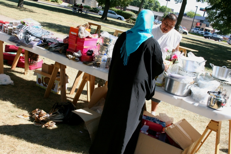 Vendors, like Riyaam, peddled their wares at the 2011 festival.