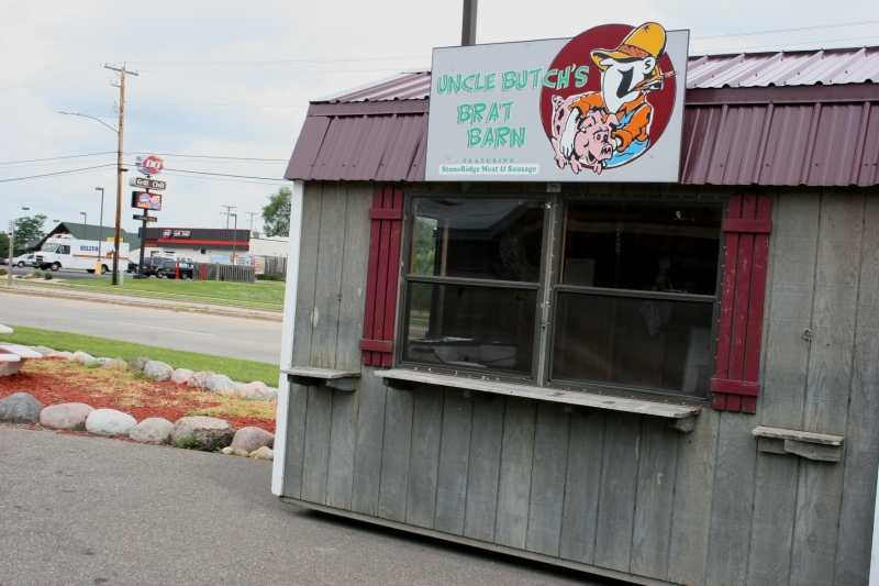 The brat barn, not to be confused with a dairy or pig barn. You can purchase StoneRidge meats here.